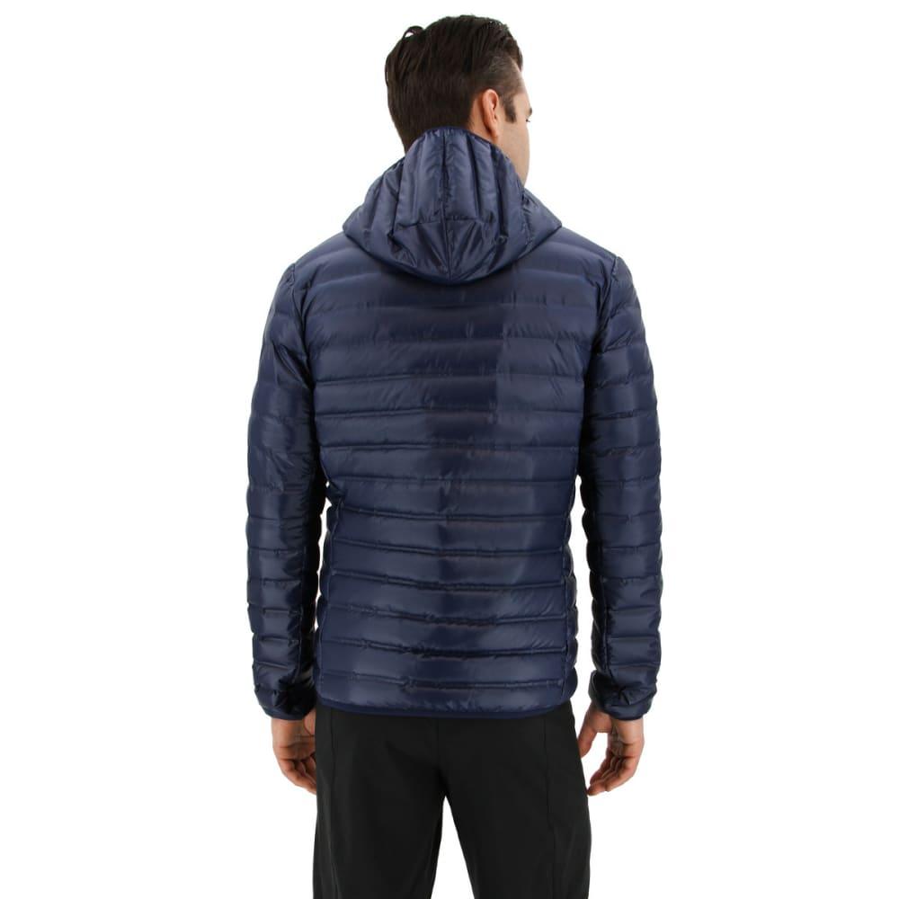 ADIDAS Men's Varilite Hooded Down Jacket - COLLEGIATE NAVY