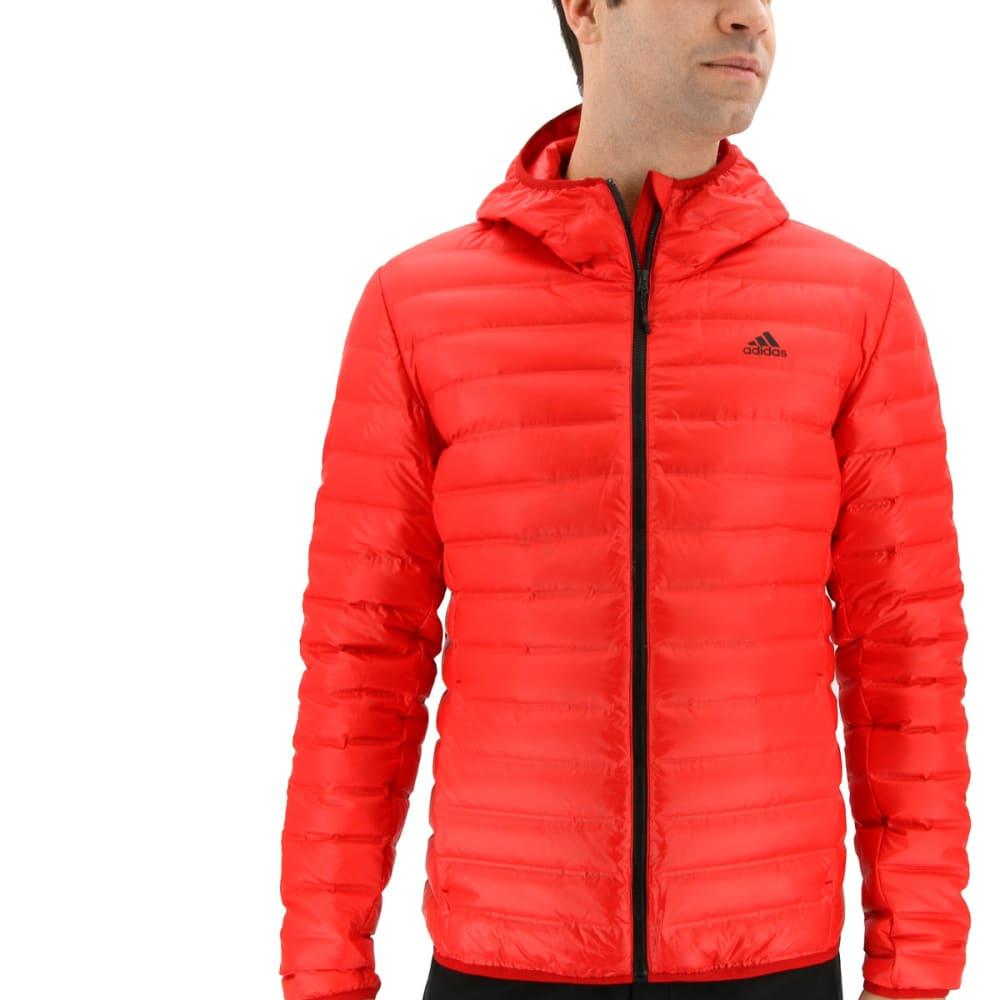 ADIDAS Men's Varilite Hooded Down Jacket - SCARLET