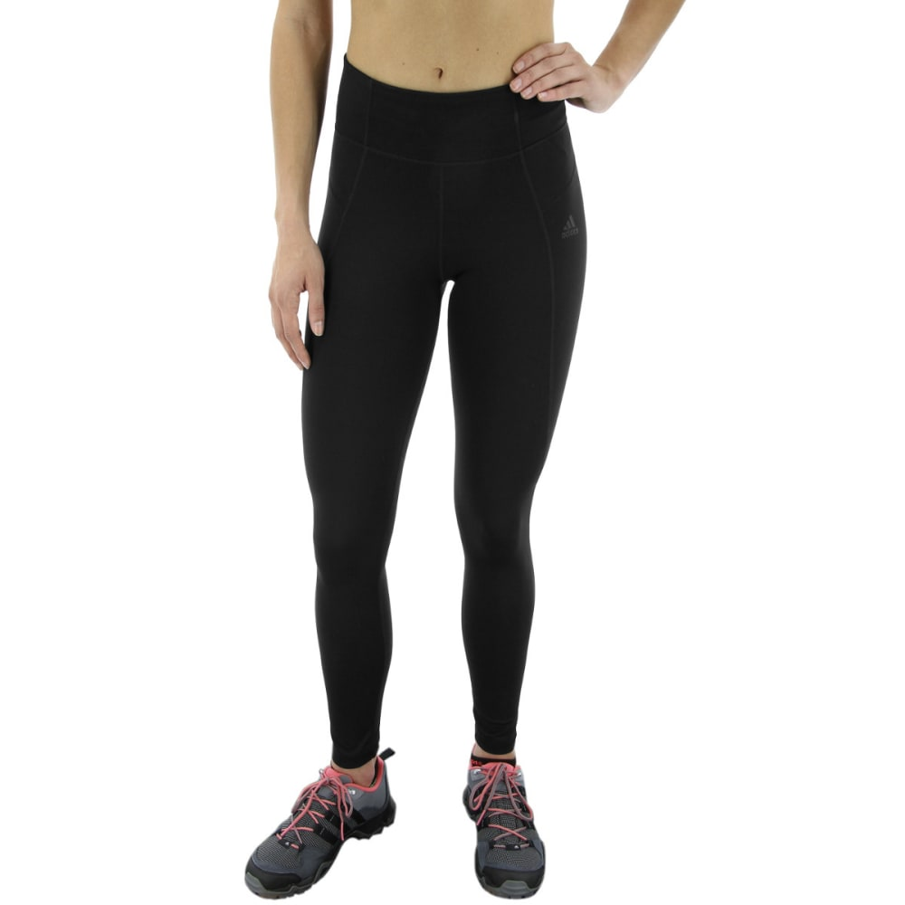 ADIDAS Women's Performer High-Rise Long Training Tights - BLACK/BLACK