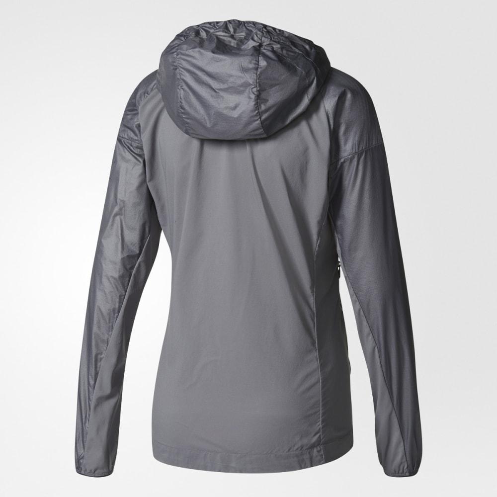 ADIDAS Women's Terrex Agravic Alpha Hooded Shield Outdoor Jacket - GREY FIVE