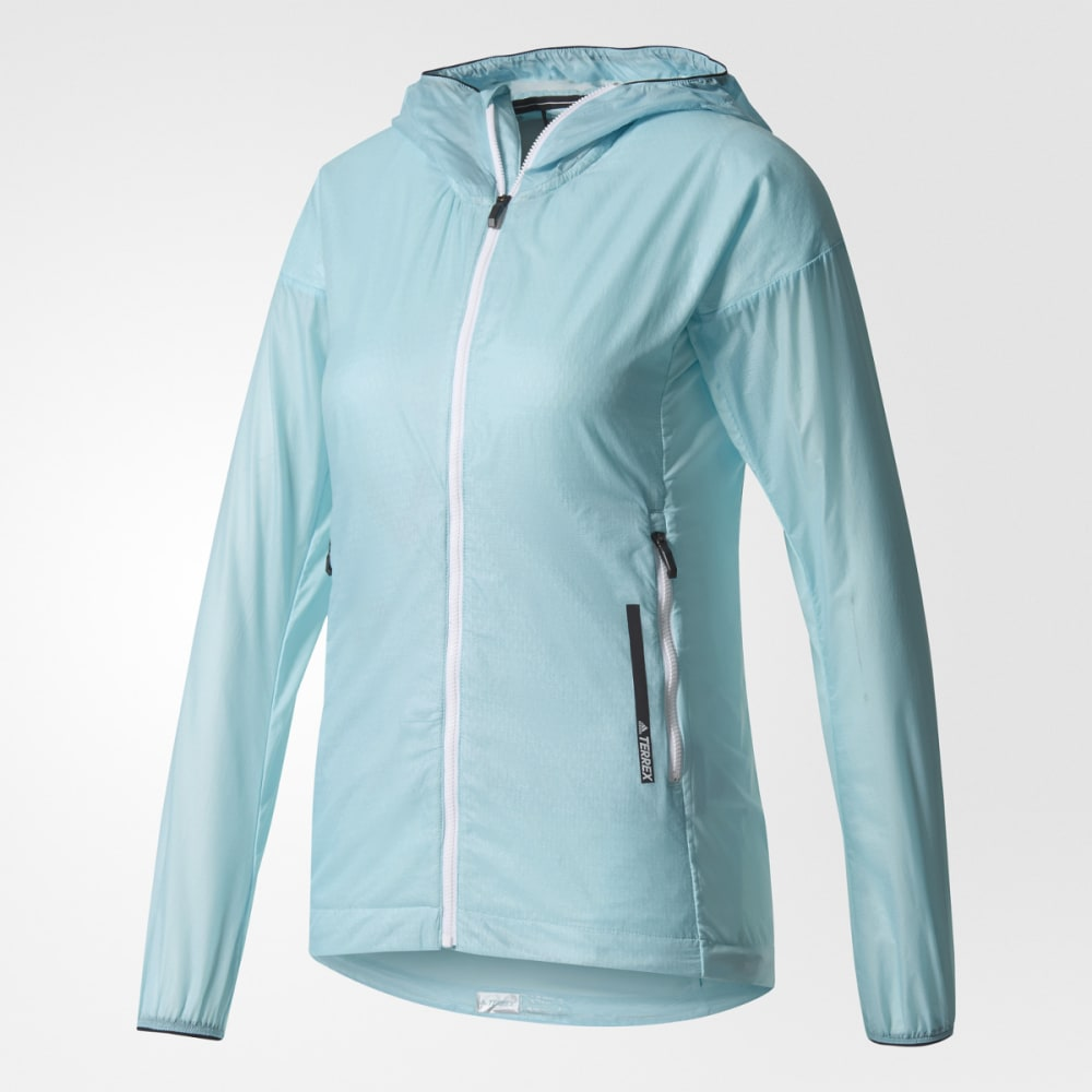 ADIDAS Women's Terrex Agravic Alpha Hooded Shield Outdoor Jacket - CLEAR AQUA