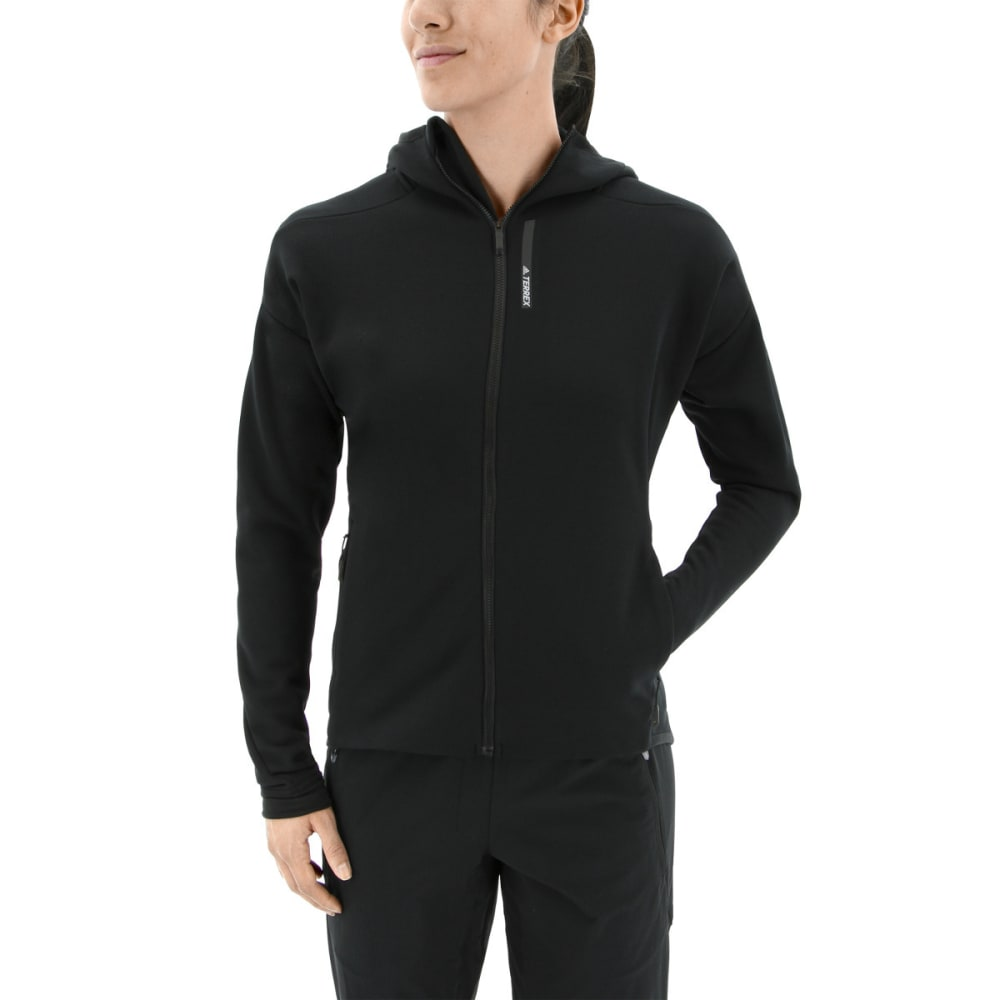 ADIDAS Women's Terrex Climaheat Ultimate Fleece Jacket - BLACK