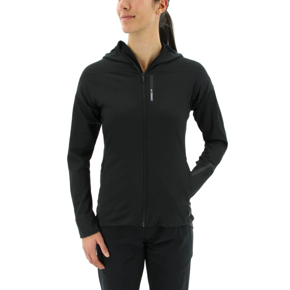ADIDAS Women's Terrex Radical Fleece Hiking Jacket - BLACK