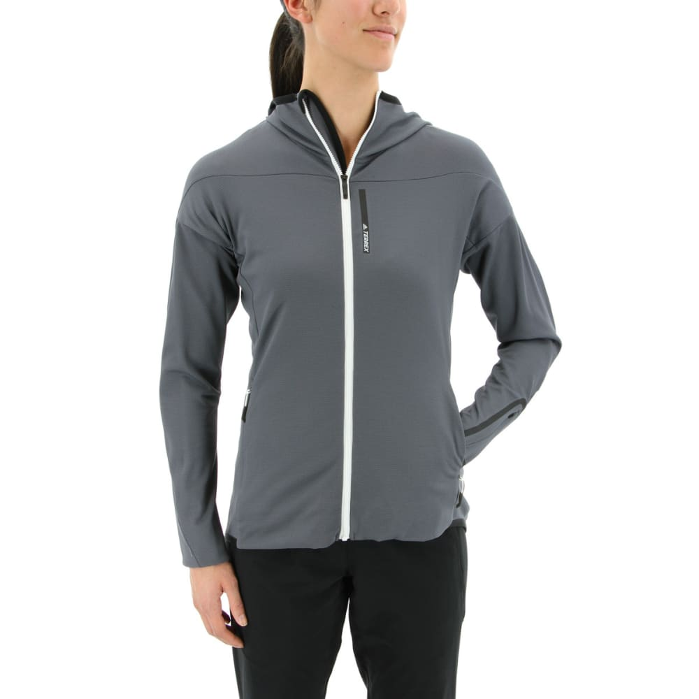 ADIDAS Women's Terrex Radical Fleece Hiking Jacket - GREY FIVE