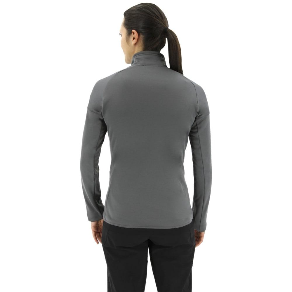 ADIDAS Women's Tivid Half Zip Fleece Jacket - GREY FIVE