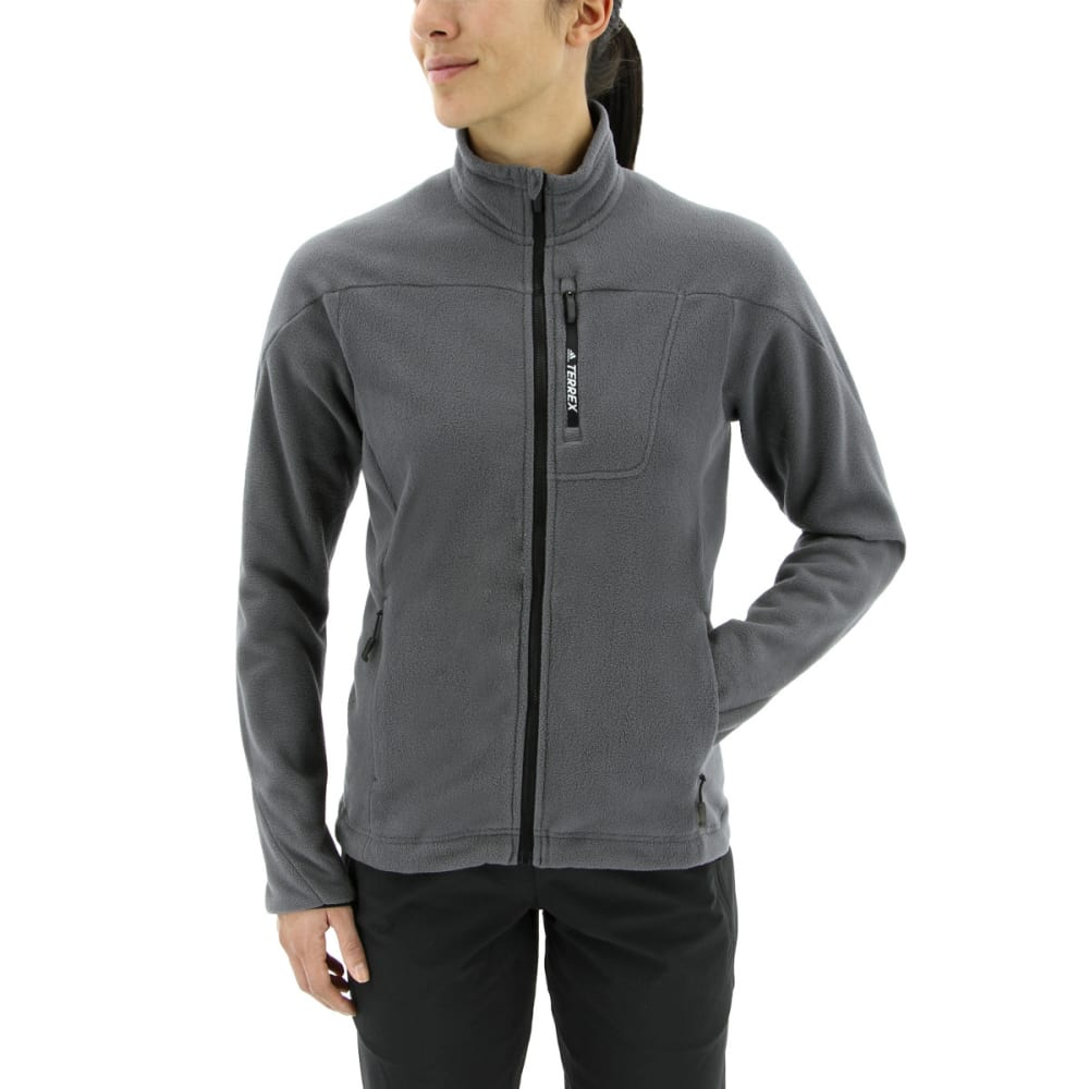ADIDAS Women's Tivid Fleece Jacket - GREY FIVE