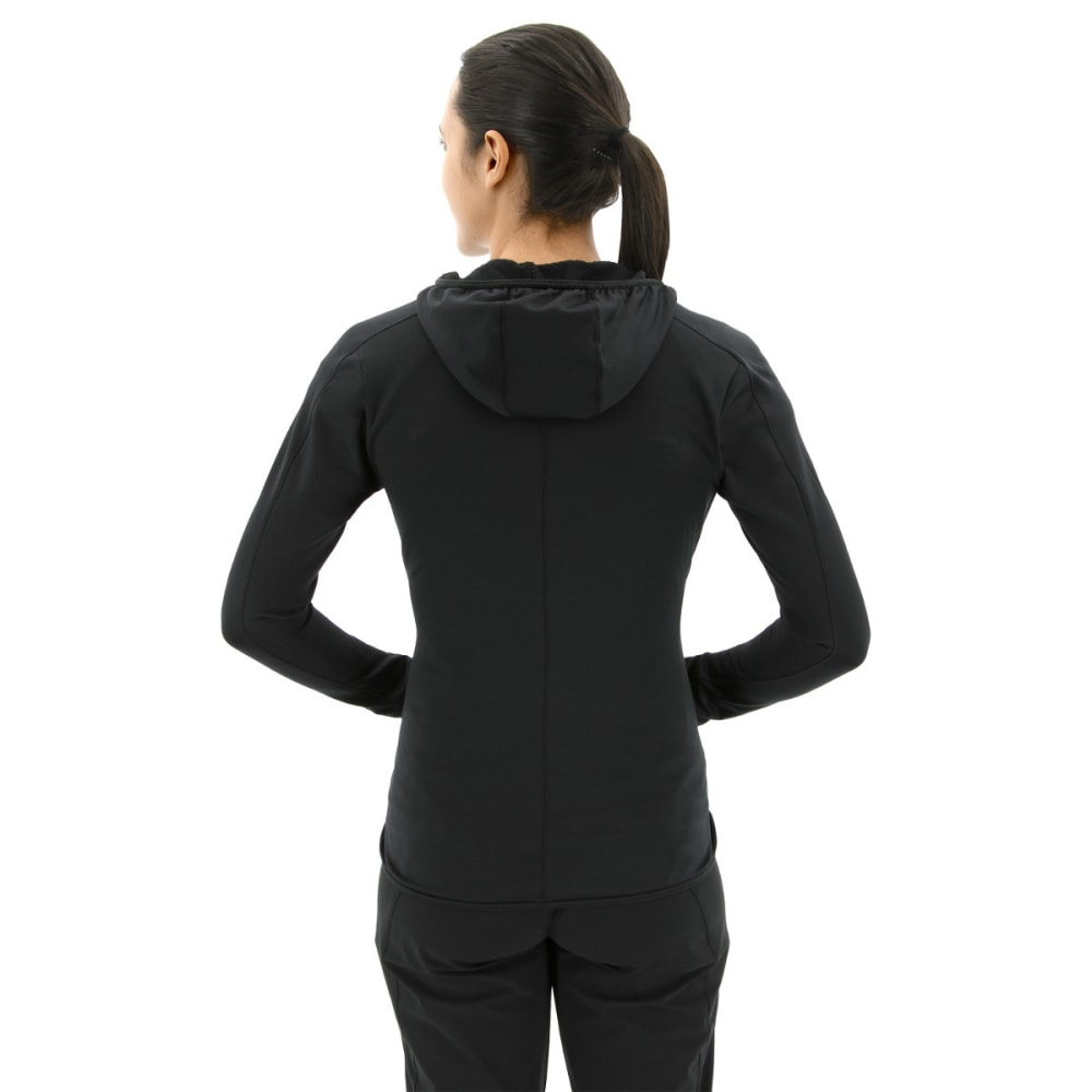 ADIDAS Women's Terrex Trace Rocker Hooded Fleece Hoodie - BLACK