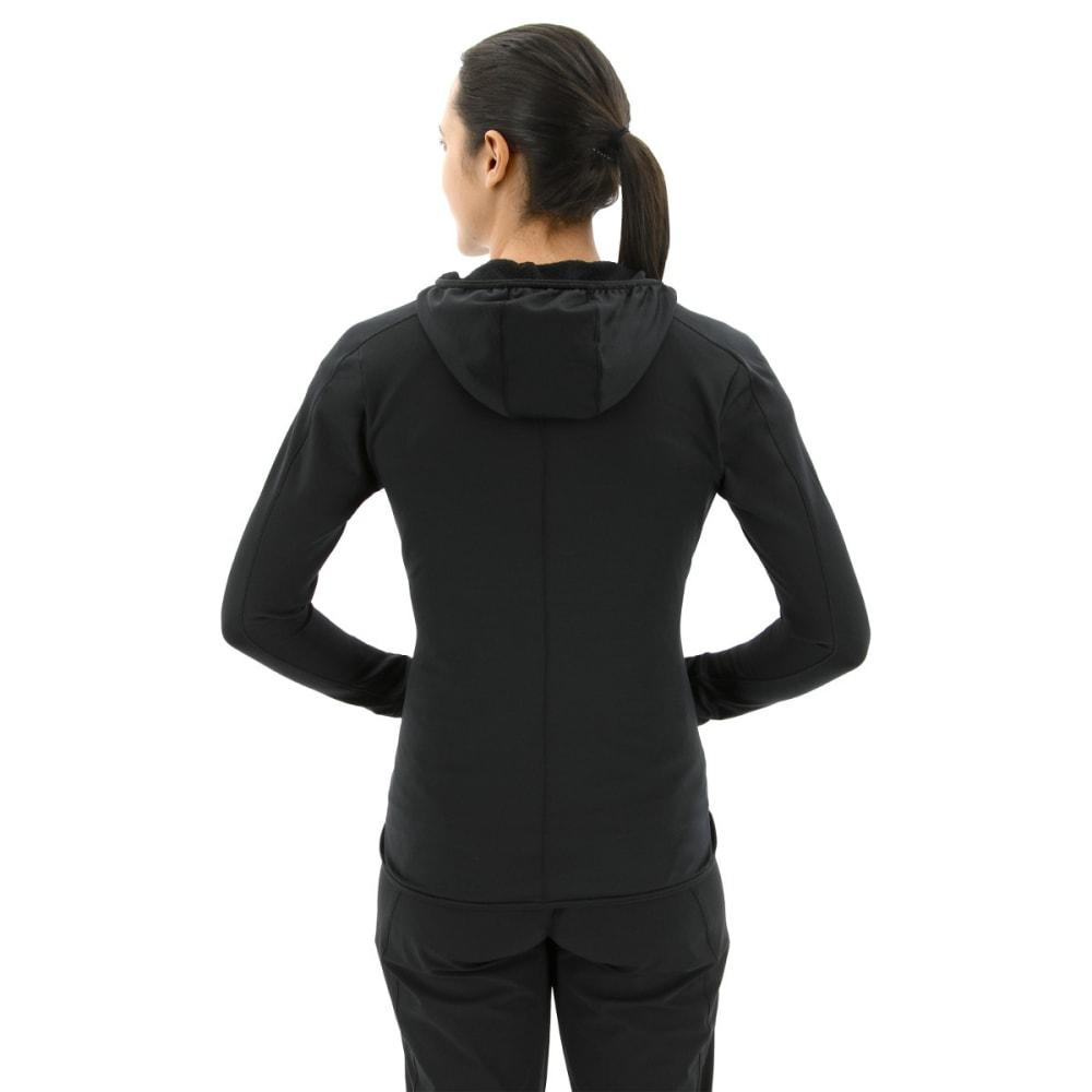 ADIDAS Women's Terrex Trace Rocker Hooded Fleece Hoodie - BLACK