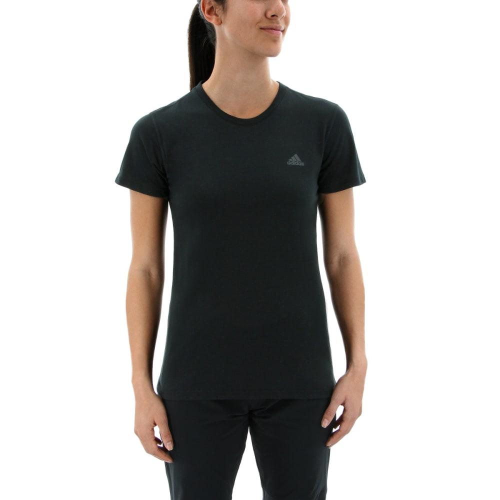 ADIDAS Women's Ultimate Short Sleeve T-Shirt - BLACK/BLACK
