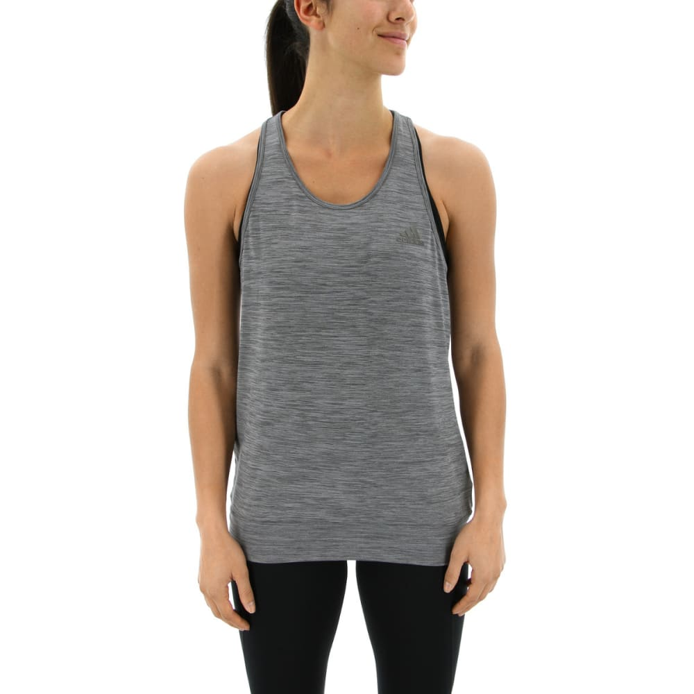 ADIDAS Women's Performer Banded Tank Top - GREY FIVE