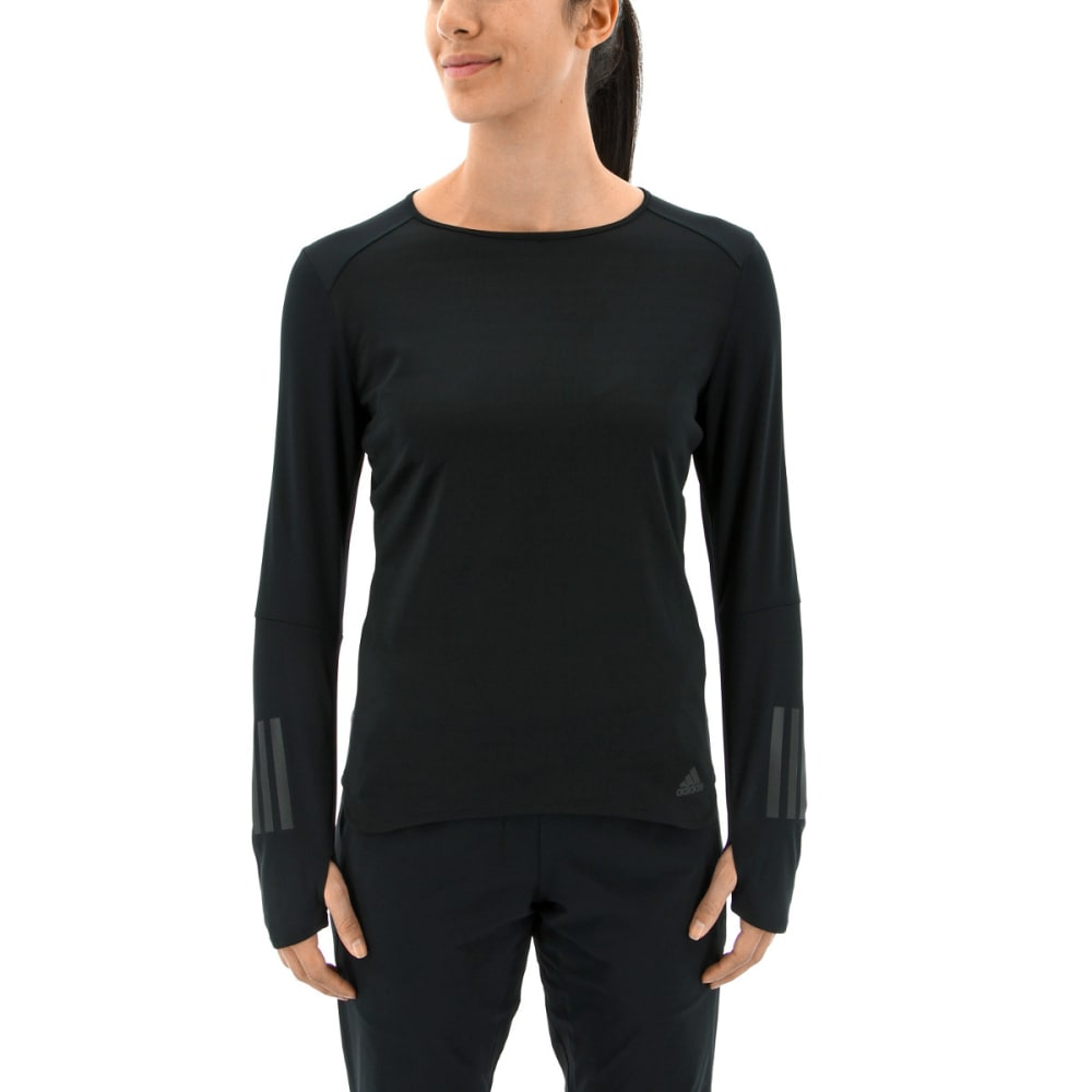ADIDAS Women's Response Long Sleeve Running T-Shirt - BLACK