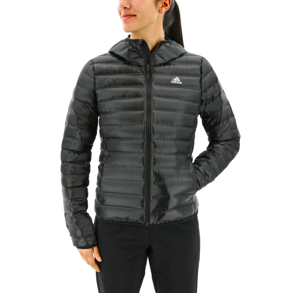 ADIDAS Women's Varilite Hooded Down Jacket - BLACK