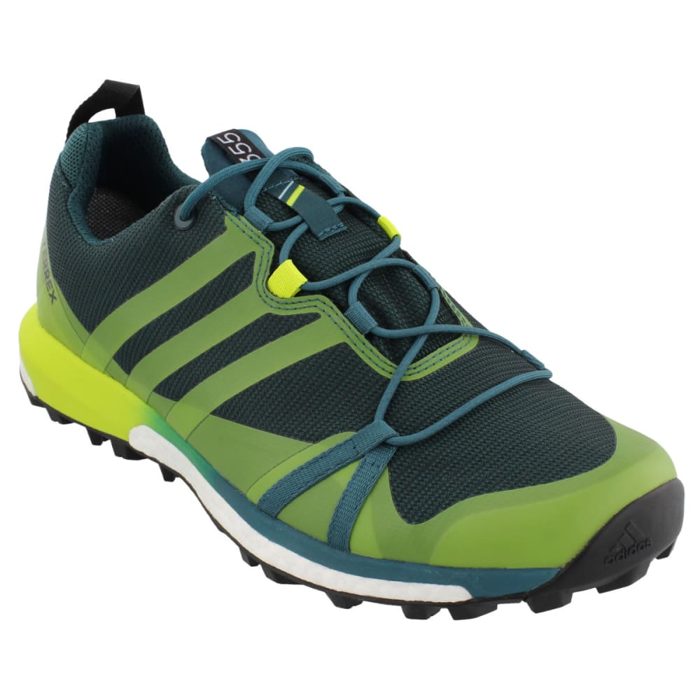 ADIDAS Men's Terrex Agravic GTX Trail Running Shoes, Mystery Green/Semi Solar Yellow/Black - GREEN/YELLOW/BLACK