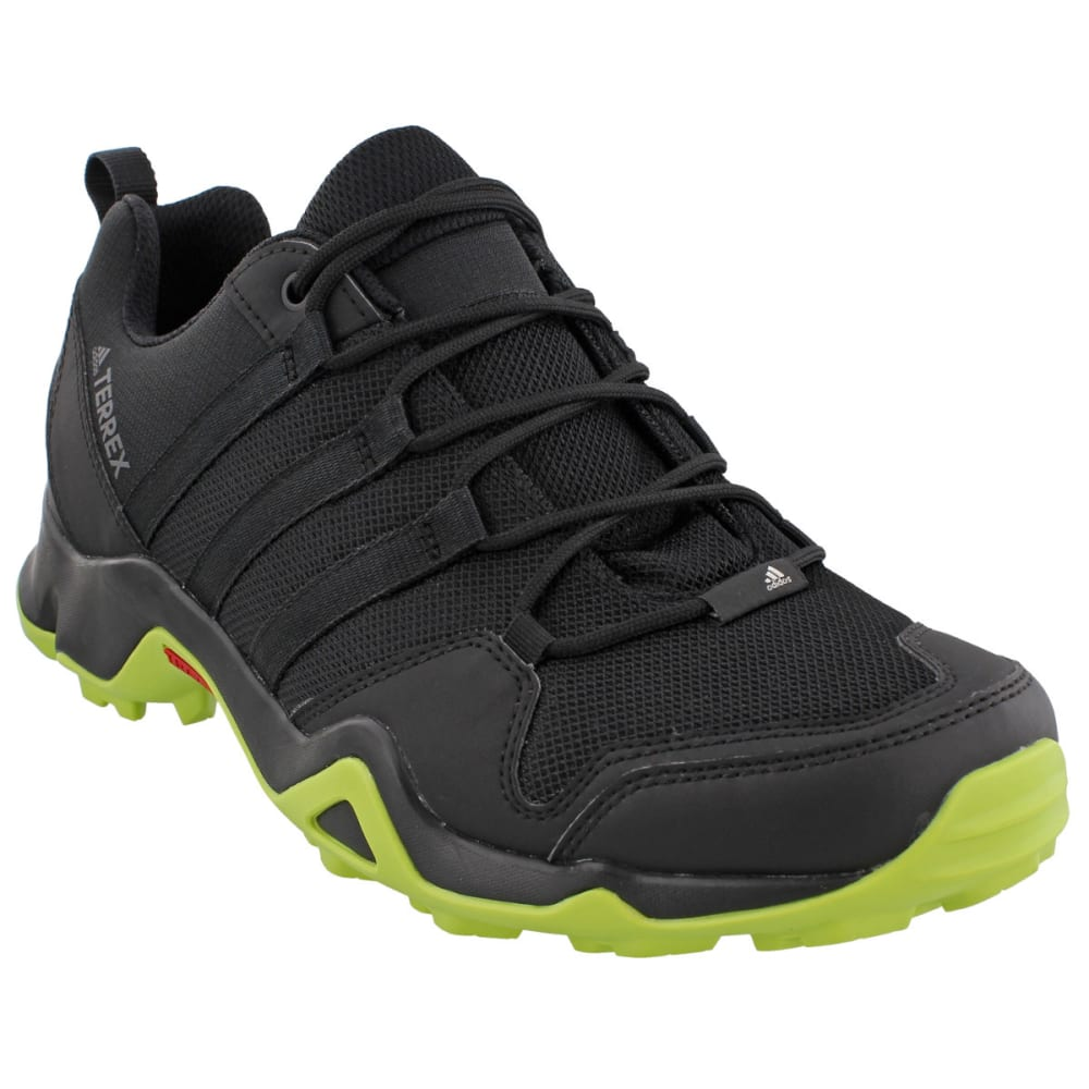 ADIDAS Men's Terrex AX2R Hiking Shoes, Black/Black/Semi Solar Yellow - BLACK/BLACK/YELLOW