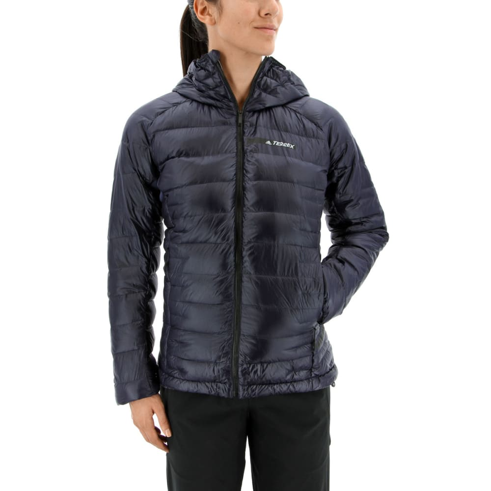 ADIDAS Women's Terrex Climaheat Agravic Down Hooded Jackets - NOBLE INK