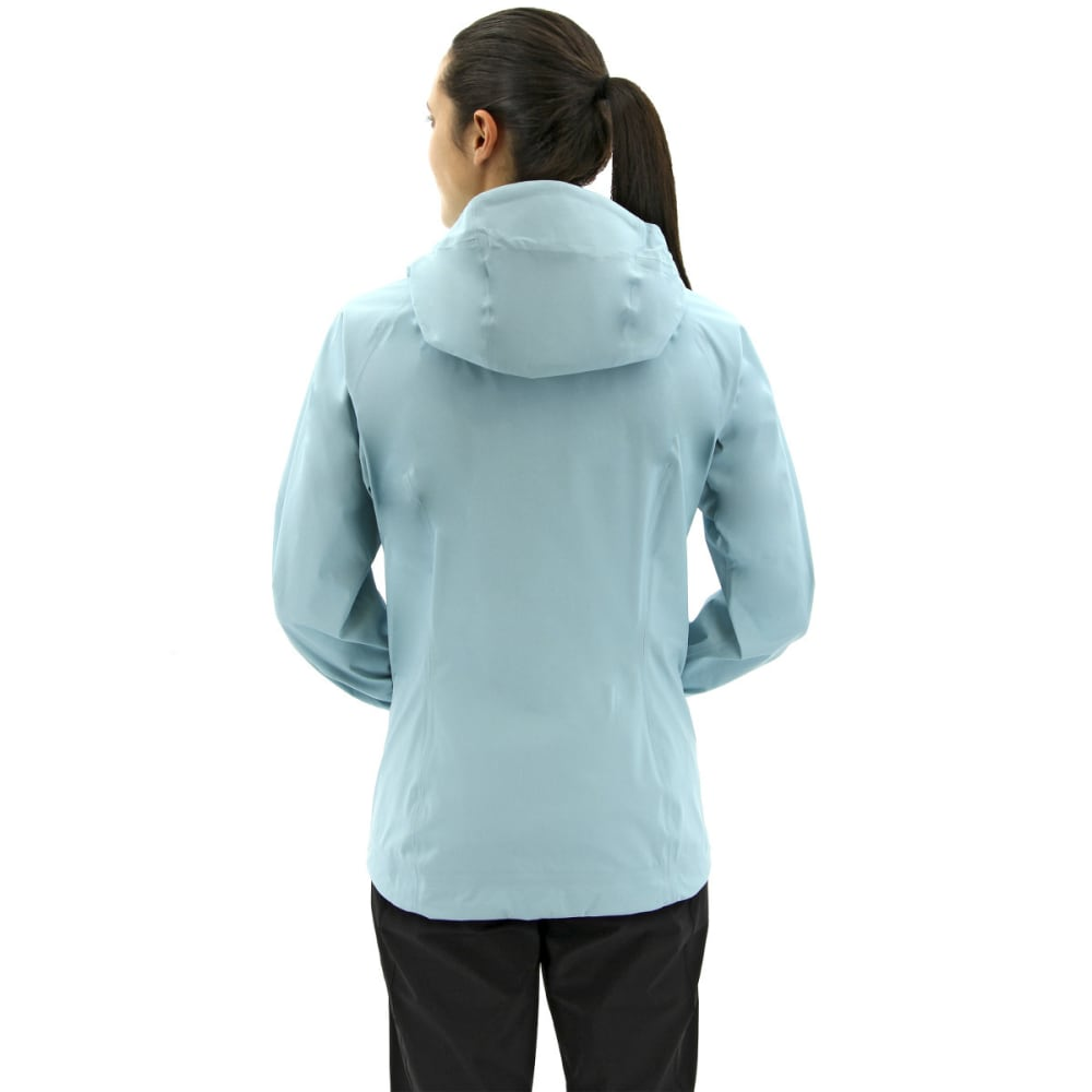 ADIDAS Women's Terrex Fast Gore-Tex Active Shell Packable Hooded Jackets - CLEAR AQUA