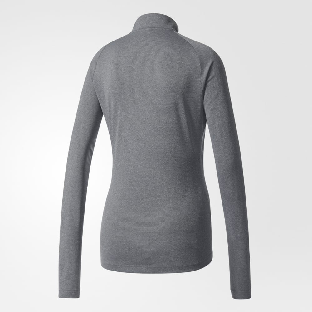 ADIDAS Women's Terrex Trace Rocker Half Zip Fleece Top - GREY FIVE