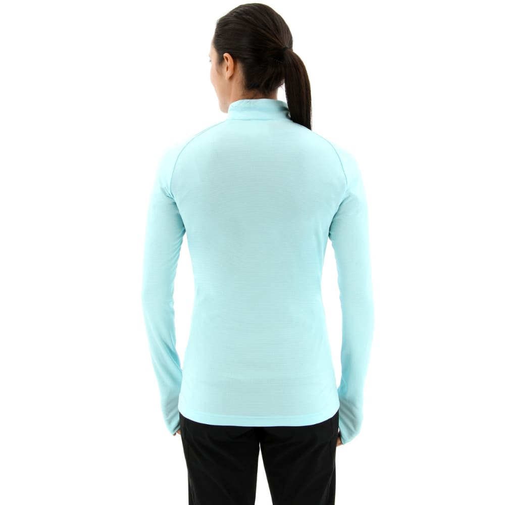 ADIDAS Women's Terrex Trace Rocker Half Zip Fleece Top - CLEAR AQUA