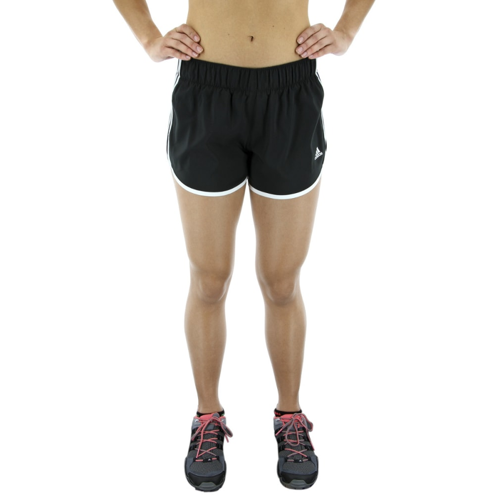 ADIDAS Women's M10 Icon Running Shorts - BLACK/WHITE