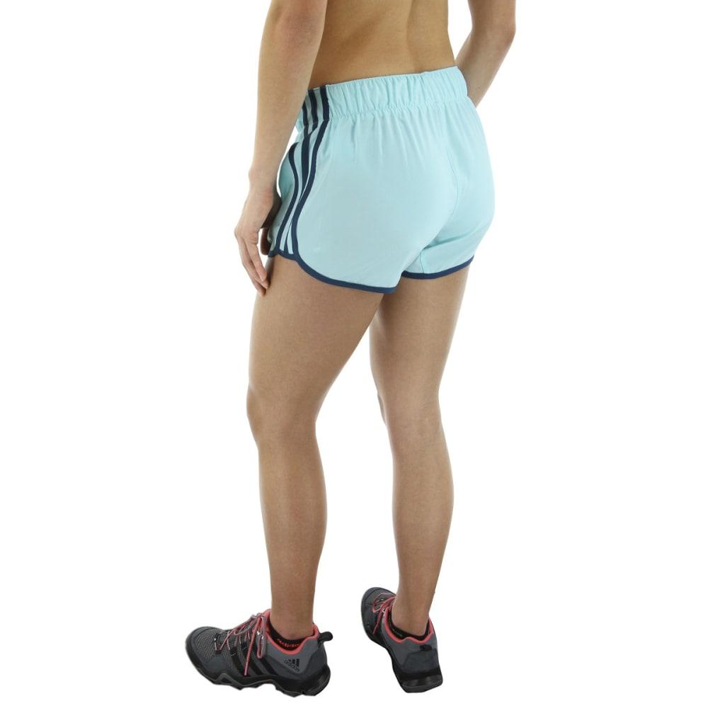 ADIDAS Women's M10 Icon Running Shorts - ENERGY AQUA/PETROL