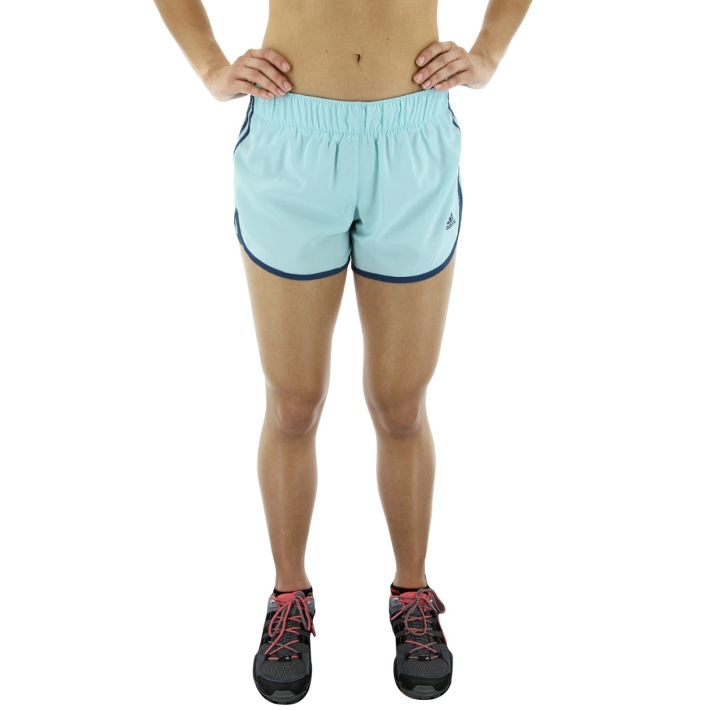 ADIDAS Women's M10 Icon Running Shorts - ENERGY AQUA/PETROL
