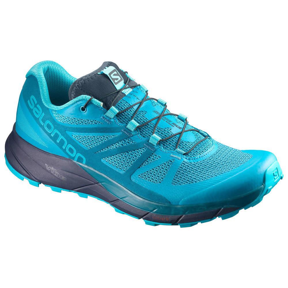 Salomon Women's Sense Ride Trail Running Shoes, Bluebird - Blue - Size 11 L398477