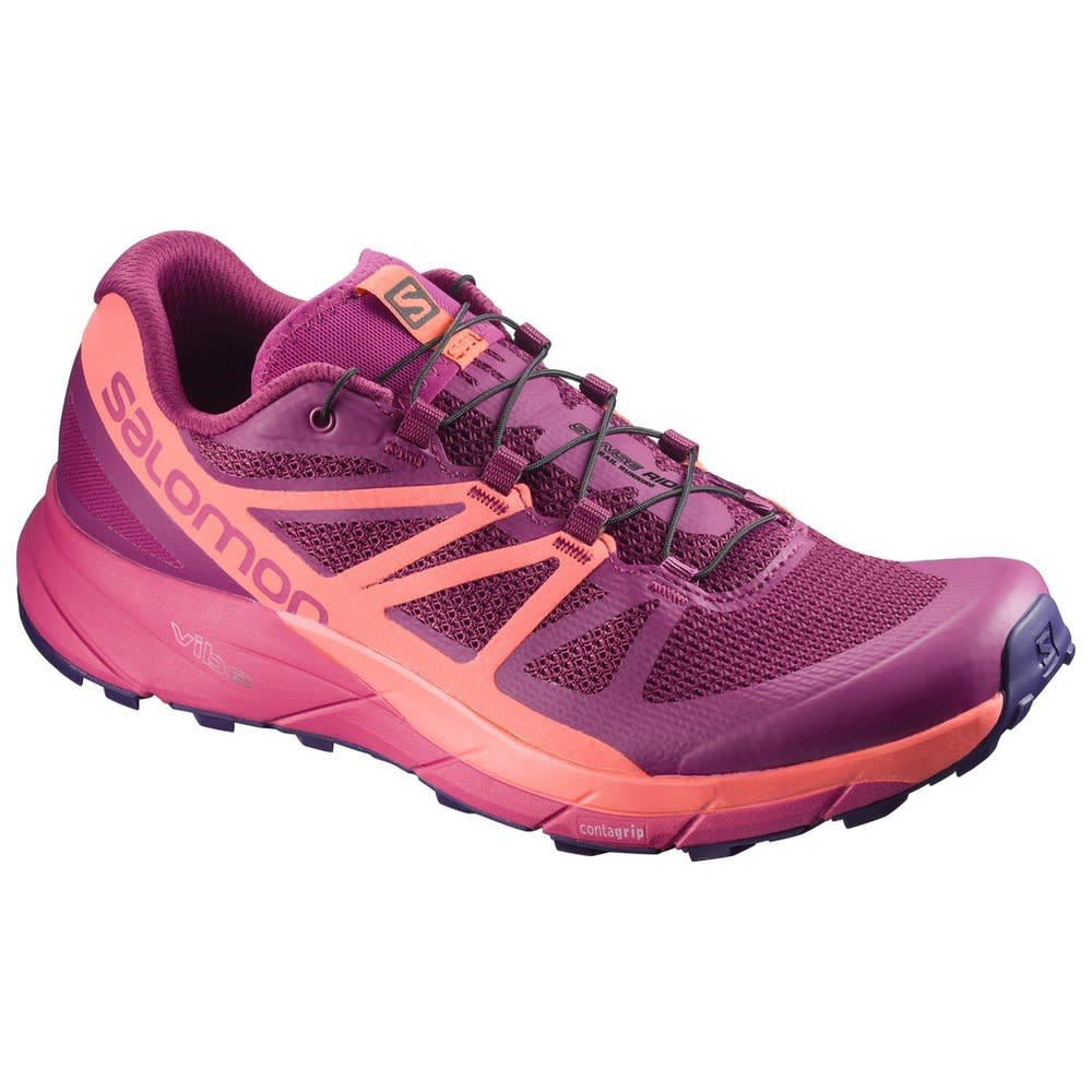 SALOMON Women's Sense Ride Trail Running Shoes, Bluebird - SANGRIA L398486