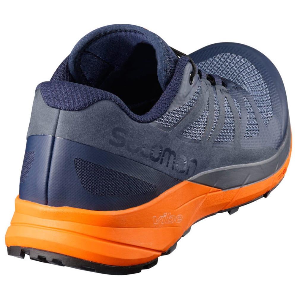 SALOMON Men's Sense Ride Trail Running Shoes, Navy Blazer/Marigold - NAVY BLAZER
