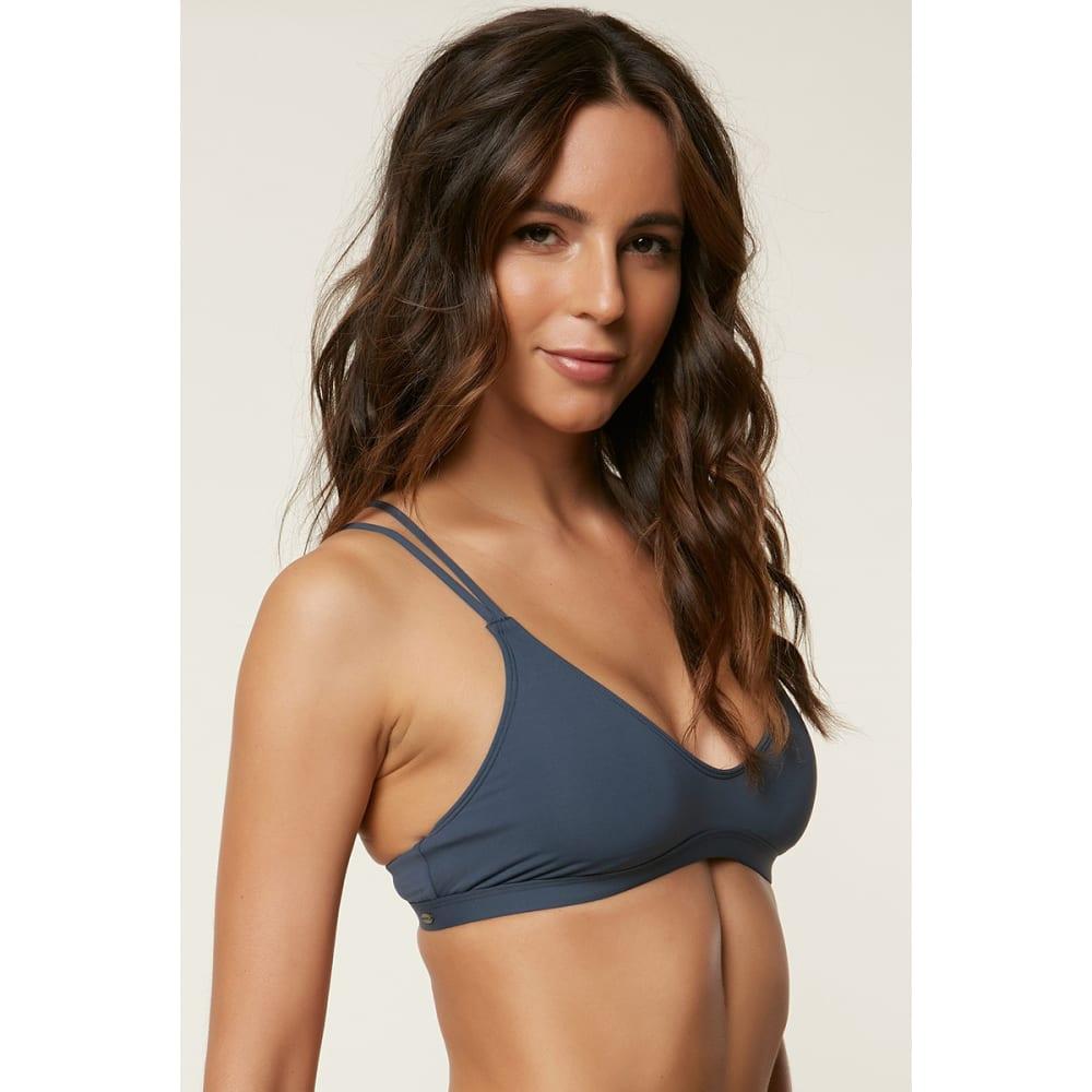 O'NEILL Juniors' Salt Water Solids Bralette Bikini Top - DBL-DEEP BLUE