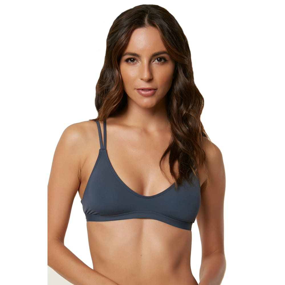 O'NEILL Juniors' Salt Water Solids Bralette Bikini Top - DBL-DEEP BLUE