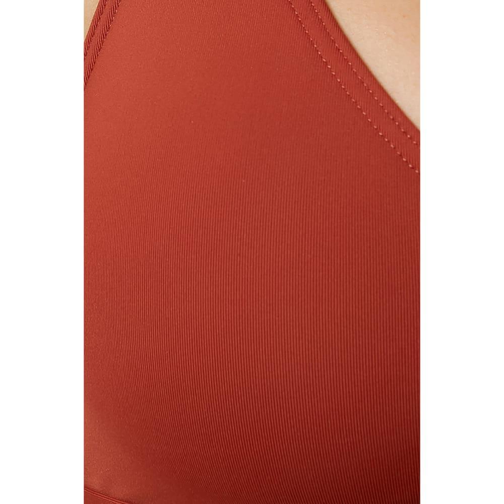 O'NEILL Juniors' Salt Water Solids Bralette Bikini Top - RUS-RUST