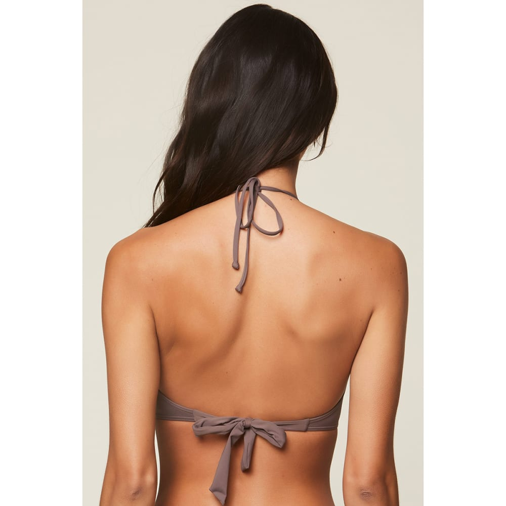 O'NEILL Juniors' Salt Water Solids Wrap Bikini Top - PEP-PEPPER