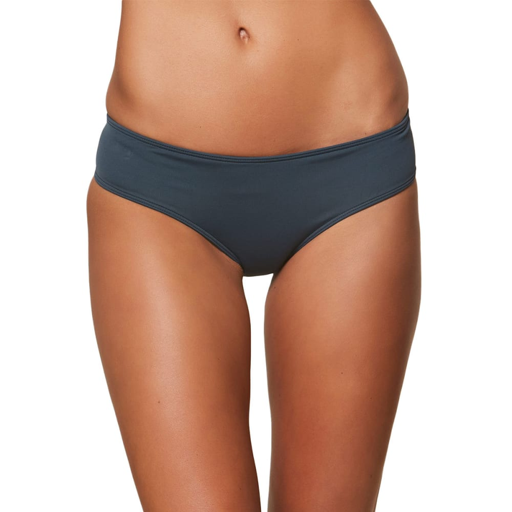 O'NEILL Juniors' Salt Water Solids Hipster Bikini Bottoms - DBL-DEEP BLUE
