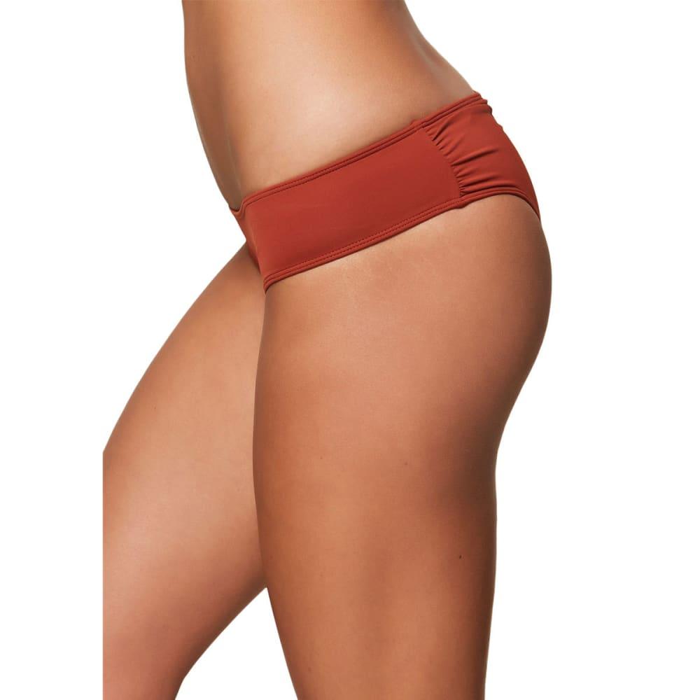 O'NEILL Juniors' Salt Water Solids Hipster Bikini Bottoms - RUS-RUST