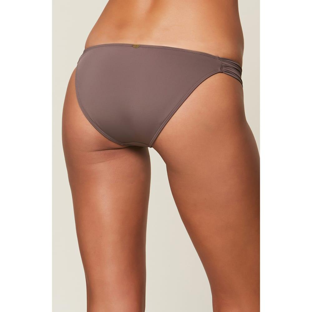O'NEILL Juniors' Salt Water Solids Tab Side Bikini Bottoms - PEP-PEPPER