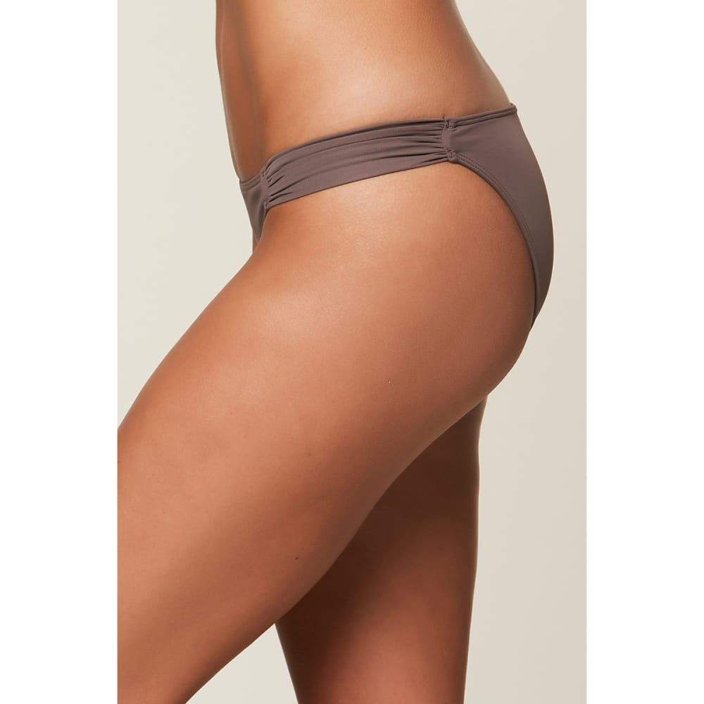 O'NEILL Juniors' Salt Water Solids Tab Side Bikini Bottoms - PEP-PEPPER
