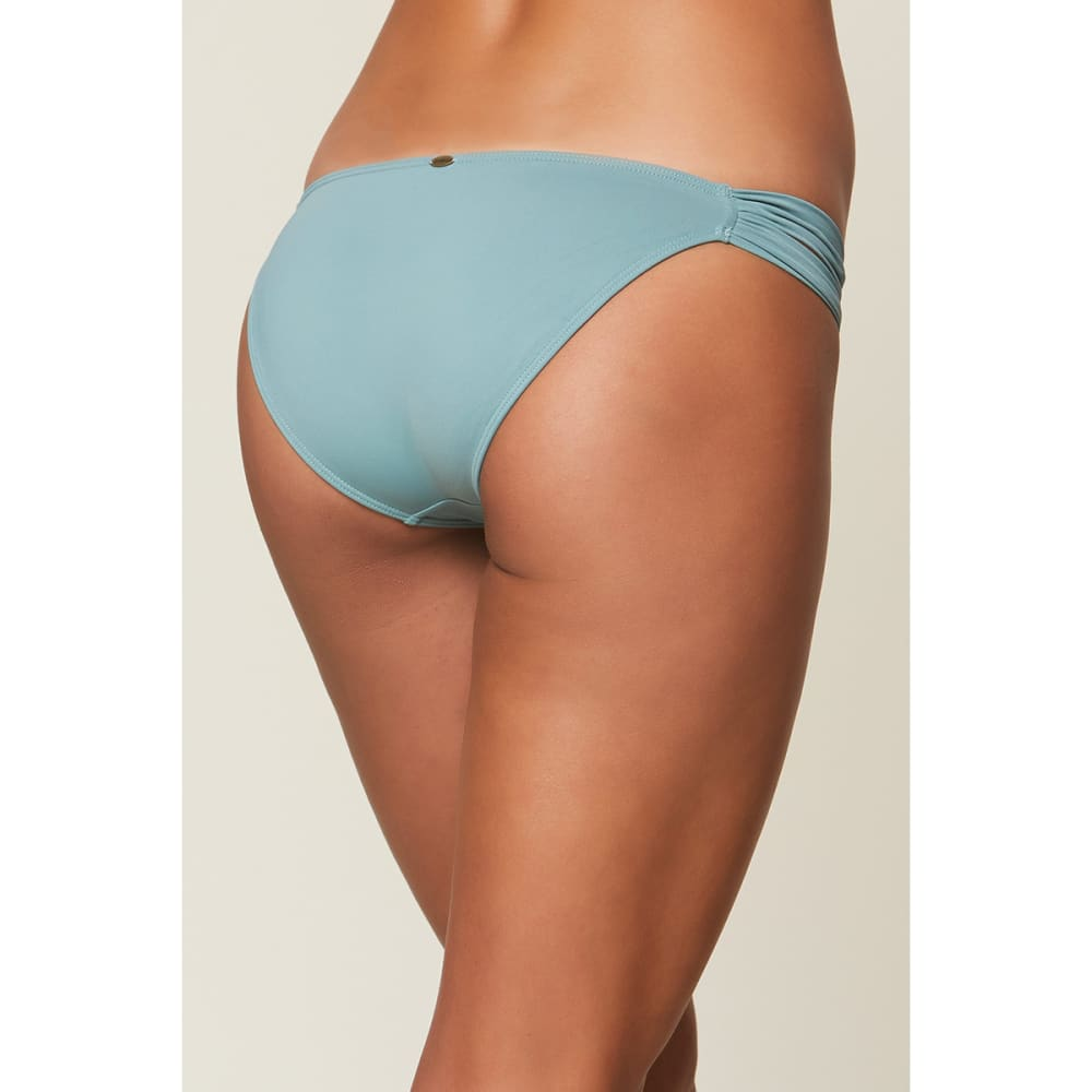 a26de52e30 O'NEILL Juniors' Salt Water Solids Tab Side Bikini Bottoms - Eastern ...