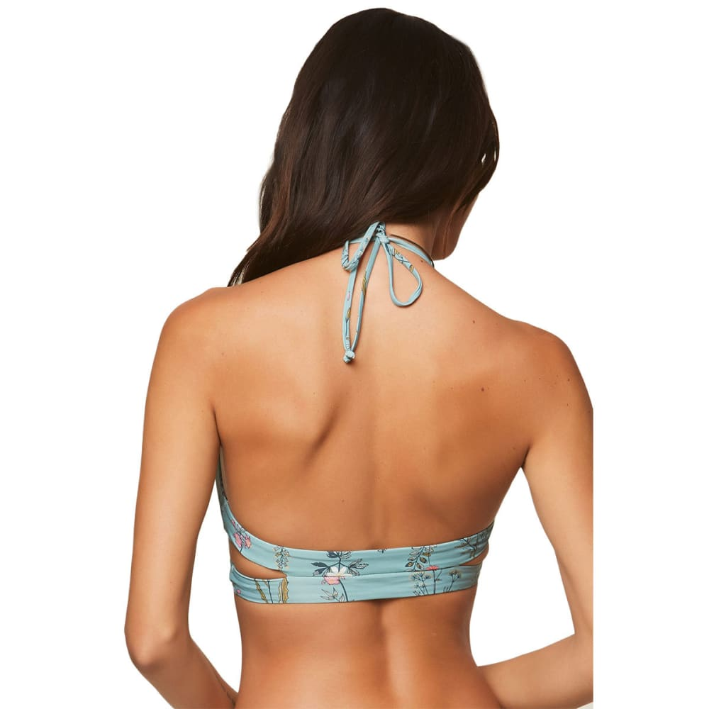 O'NEILL Women's Piper Floral Wrap Bikini Top - AQU-AQUA