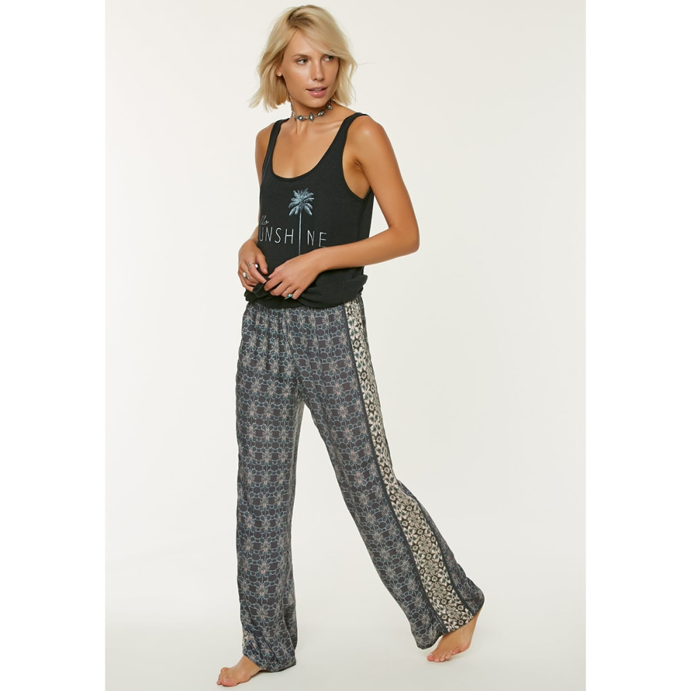 O'NEILL Women's Kasey Soft Printed Pants - GRA-GRAPHITE