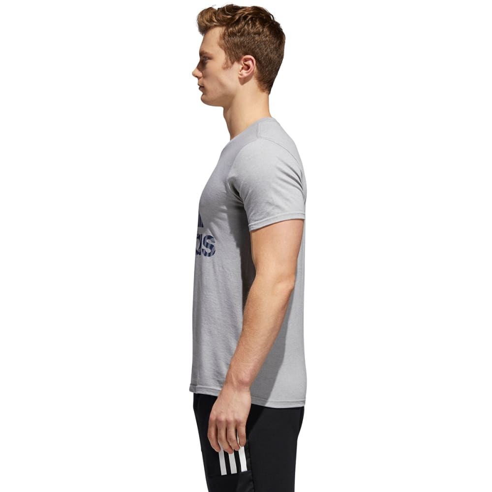 ADIDAS Men's Badge of Sport American Fill Short-Sleeve Tee - MGH/CONAVY-CY6340