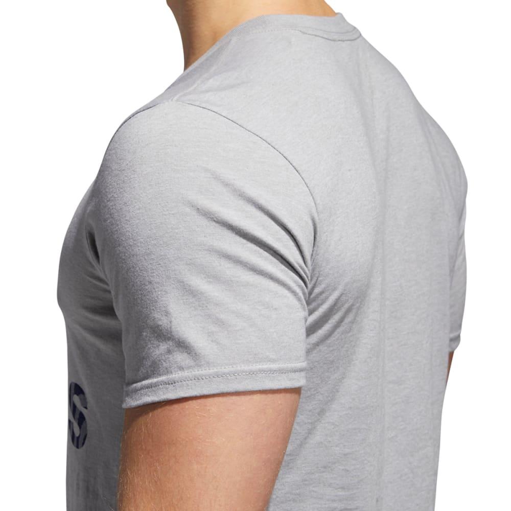ADIDAS Men's Badge of Sport American Fill Short-Sleeve Tee - MGH/CONAVY-CY6340