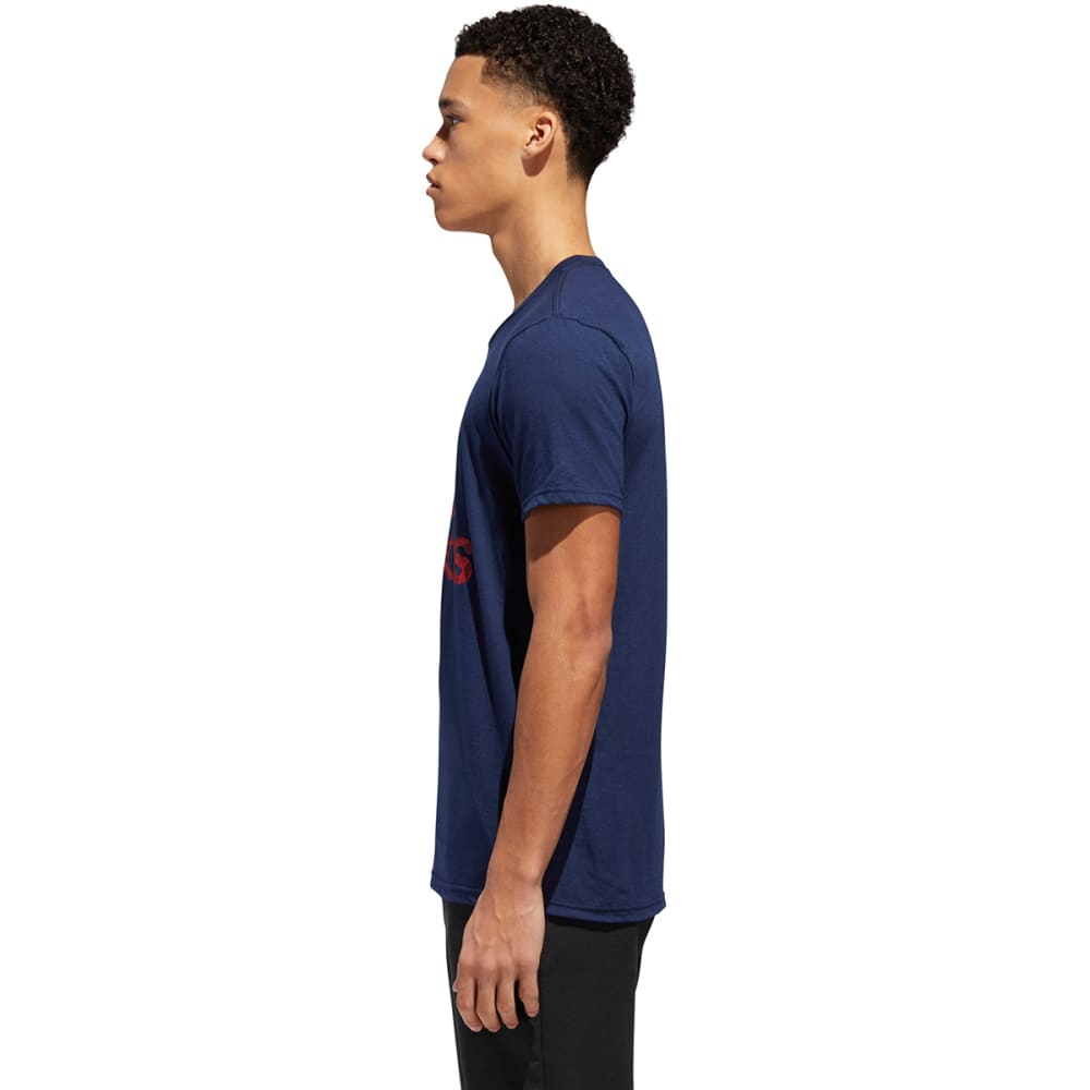 ADIDAS Men's Badge of Sport American Fill Short-Sleeve Tee - NAVY/SCAR-CF8221