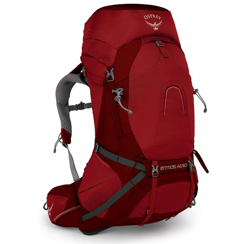 OSPREY Atmos AG 50 Backpacking Pack - RIGBY RED