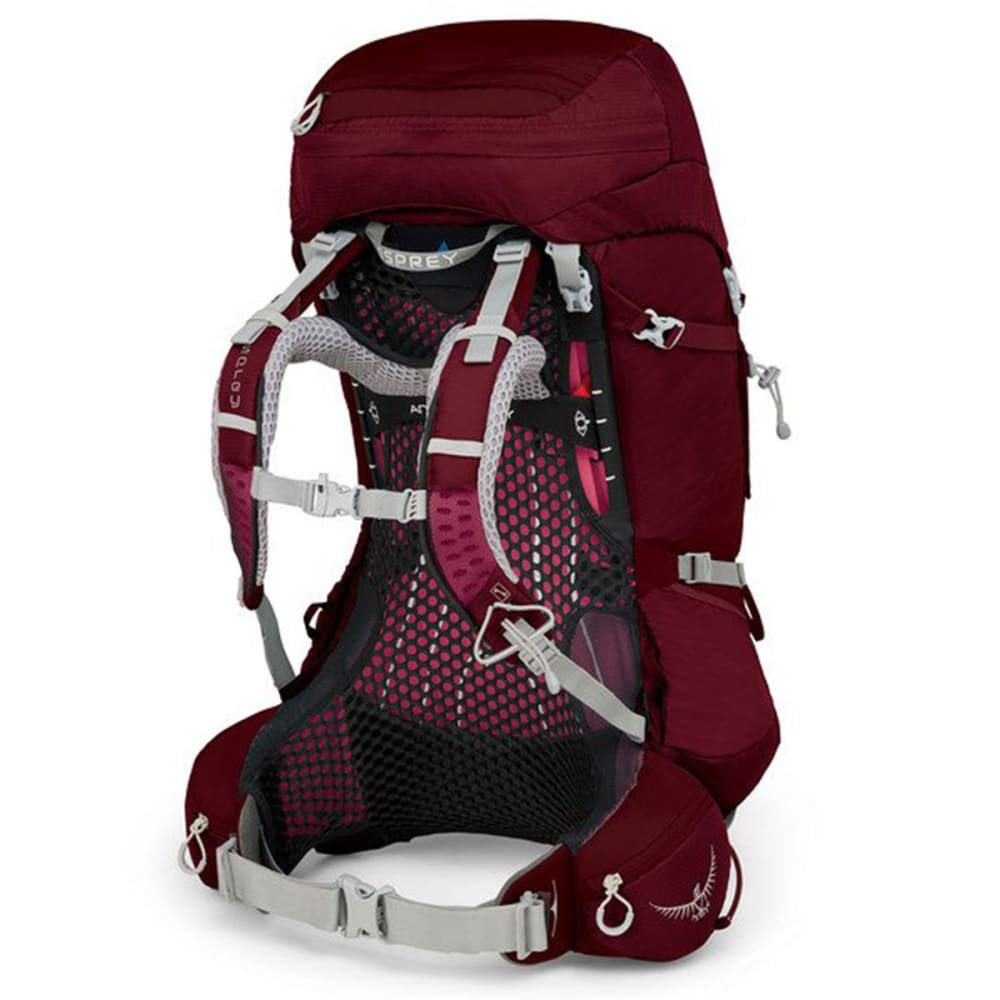 OSPREY Women's Aura AG 50 Backpacking Pack - GAMMA RED