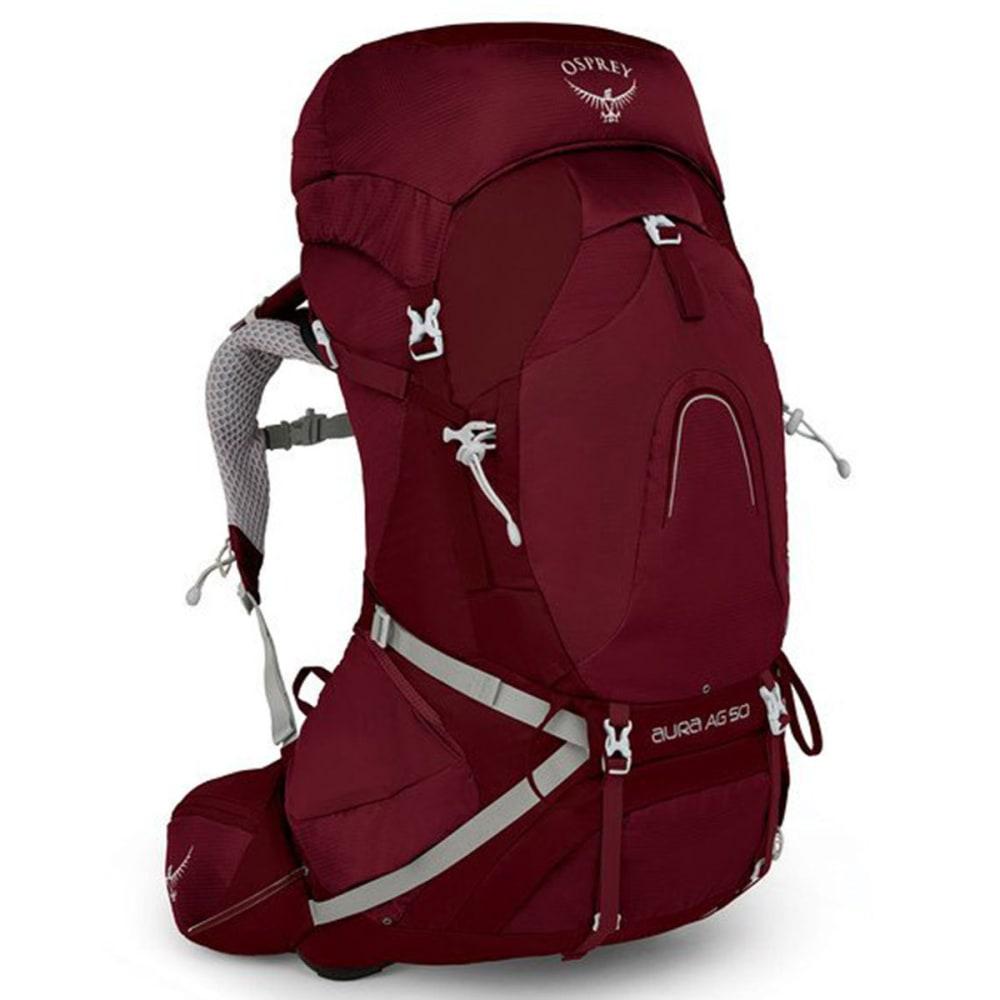 OSPREY Women's Aura AG 50 Backpacking Pack - GAMMA RED