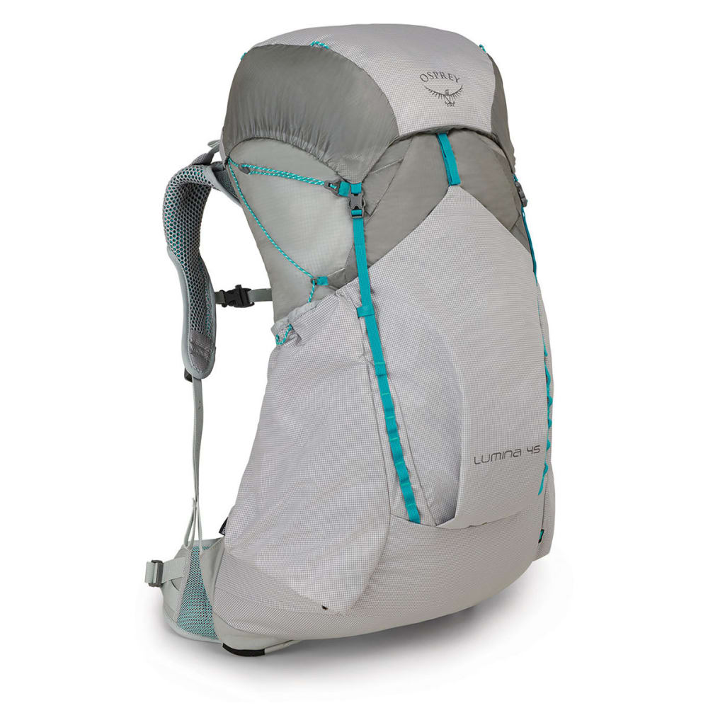 OSPREY Women's Lumina 45 Backpacking Pack - CYAN SILVER