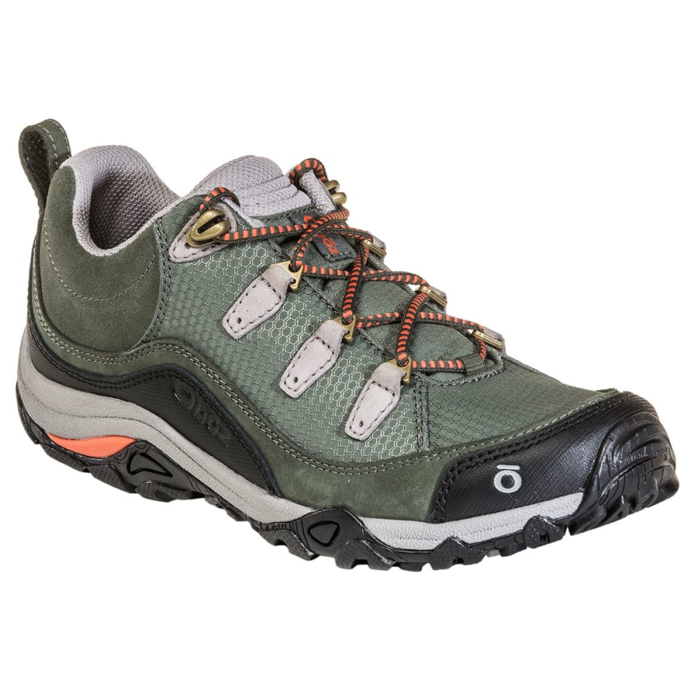 OBOZ Women's Juniper Low Hiking Shoes - THYME/CORAL