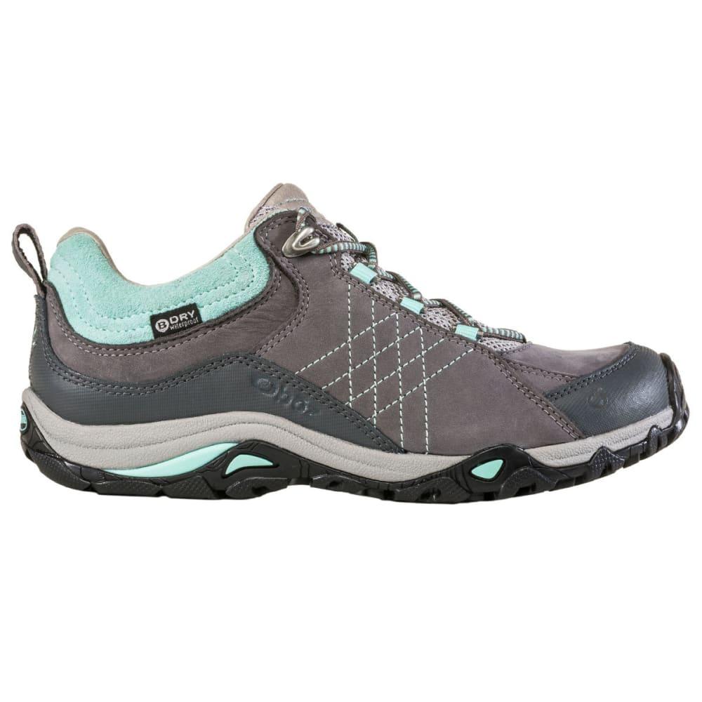 OBOZ Women's Sapphire Low Waterproof Hiking Shoes - CHARCOAL/BEACH
