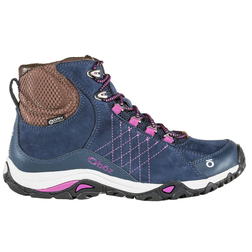 OBOZ Women's Sapphire Mid Waterproof Hiking Boots - HUCKLEBERRY