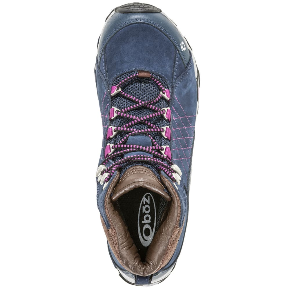 OBOZ Women's Sapphire Mid Waterproof Hiking Boots - HUCKLEBERRY